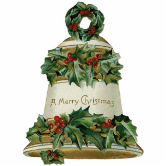 Victorian Bell Christmas Ornament Photo Sculpture Ornament
