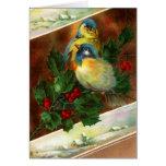 Victorian Bird Christmas Card
