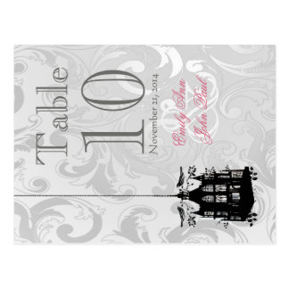 Victorian Birdcage Wedding Table Number Cards