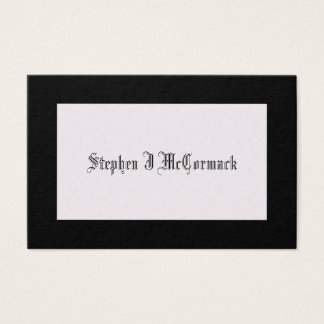 Victorian Black-Bordered Mourning Calling Card