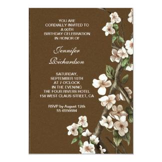 victorian blossoms birthday party invitations