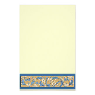 Victorian Blue and Ivory Pattern Stationery