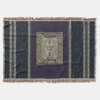 Victorian Book Binding Wuthering Heights Throw Blanket