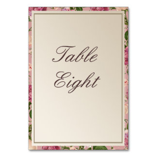 Victorian Botanical Style Table Names / Numbers Table Card