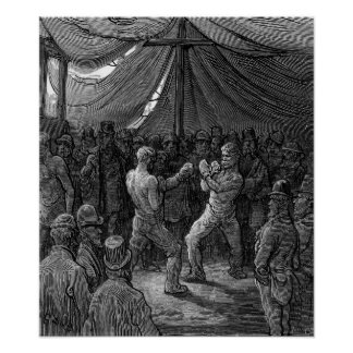 Victorian Boxing match Poster