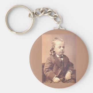 Victorian boy with unfortunate hair style keychain