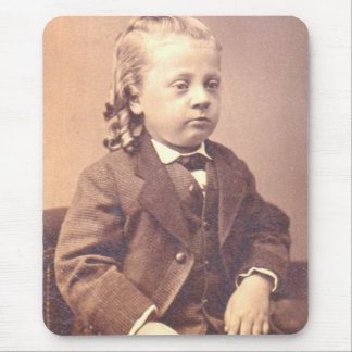 Victorian boy with unfortunate hair style mouse pad