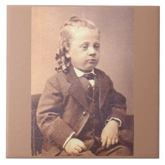 Victorian boy with unfortunate hair style tile