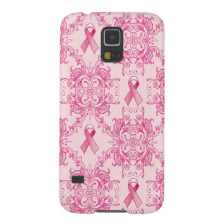 Victorian Breast Cancer Ribbon Damask Products Galaxy S5 Cover