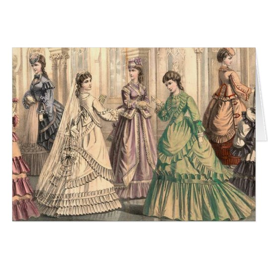 Victorian Bride and Attendants Card