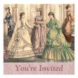 Victorian Bride and Attendants Invite