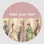 Victorian Bride and Attendants Sticker