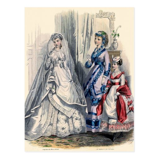 """""""Victorian Bride and Maids of Honor"""" Post Cards"""