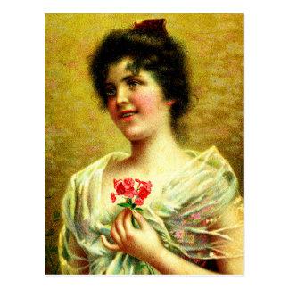 Victorian Bride Postcard