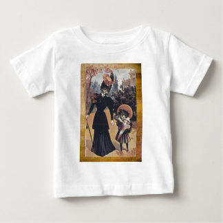 Victorian Cat Mother Daughter Baby T-Shirt