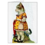 Victorian Cat Valentine's Day Card