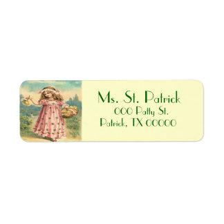Victorian Child St. Patrick's Return Address Label