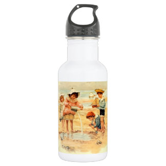 Victorian Children Beach Seashore Sandcastles 532 Ml Water Bottle