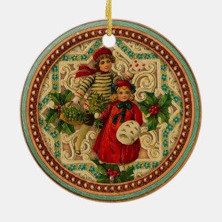 Victorian Children Christmas Ornament