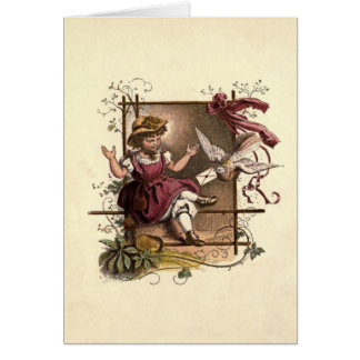 Victorian Children No 2 Card