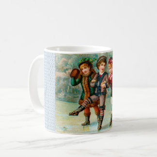Victorian Children Skating Classic Mug