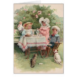 Victorian Children Tea Party Note Card