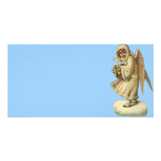 Victorian Christmas Angel Girl Picture Card
