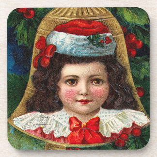 Victorian Christmas Bell Set of Cork Coasters