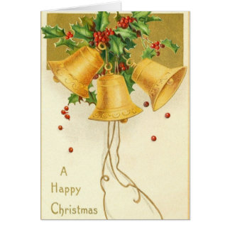 Victorian Christmas Bells Christmas Card
