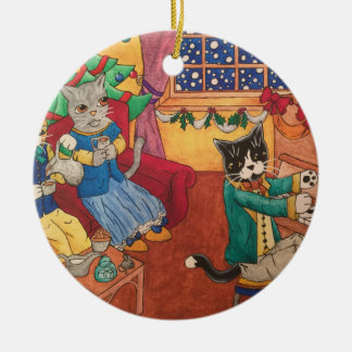 Victorian Christmas Ceramic Ornament