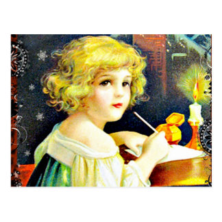 Victorian Christmas Child Postcard