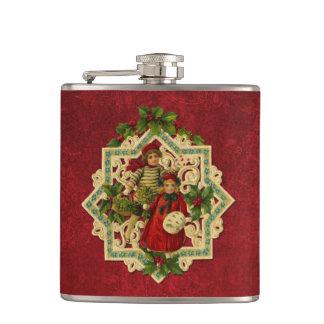 Victorian Christmas Children Flask