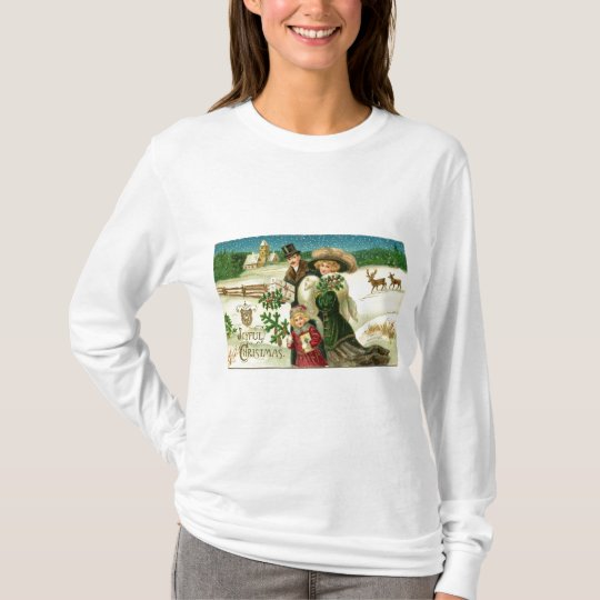 Victorian Christmas Greeting T-Shirt