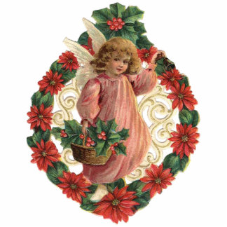 Victorian Christmas Ornament Photo Sculpture Ornament