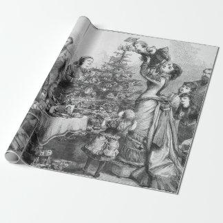 Victorian Christmas Tree Star Gift Wrap
