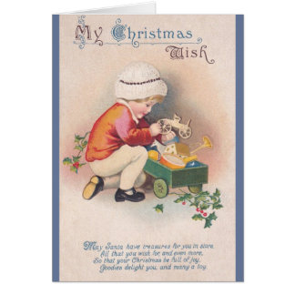Victorian Christmas Wish Greeting Card