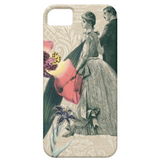 Victorian Coral Wedding Bride Groom Floral iPhone 5 Covers