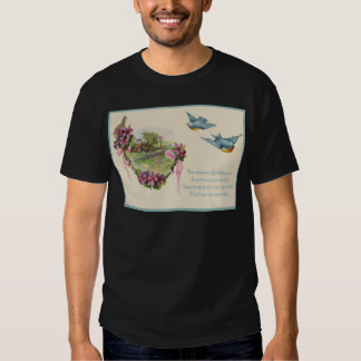 Victorian Cottage Bluebird Mother's Day Card Tshirts
