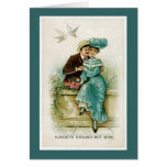 Victorian Couple Love Birds Valentine's Day Card