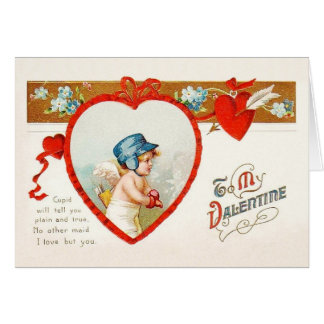 Victorian Cupid Love Valentine's Day Card
