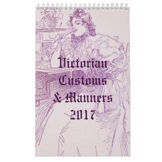 Victorian Customs & Manners Wall Calendars