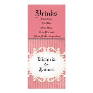 Victorian Damask - Reception Menu Rack Card Template
