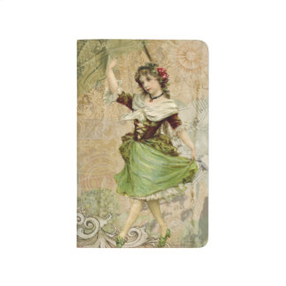 Victorian Dancing Girl Green St. Patrick's Day Journal