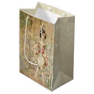 Victorian Dancing Girl Sheet Music Gift Bag