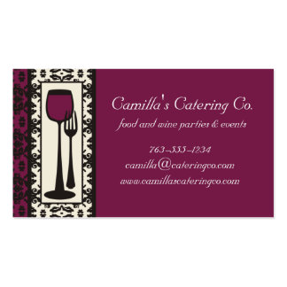 victorian decorative food wine catering biz card pack of standard business cards