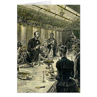 Victorian Dinner Party Vintage Illustration Card