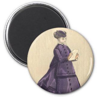 Victorian Dress 2 Inch Round Magnet