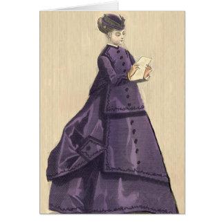 Victorian Dress Card