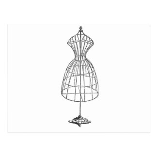 Victorian Dress Form Postcard