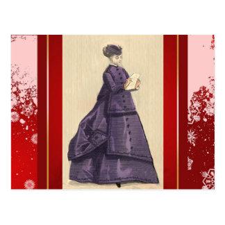Victorian Dress Postcard